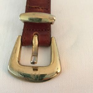 "Echo Accessories - Echo Brown Leather Belt, 34"""